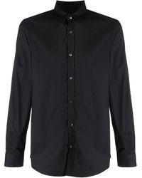 Les Hommes Printed Shirt - Black