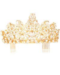 Dolce & Gabbana Verzierte Haarspange - Mettallic