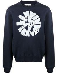 Lanvin ロゴ スウェットシャツ - ブルー