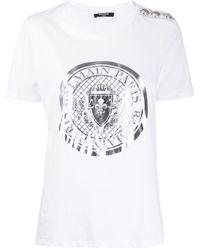 Balmain ロゴ Tシャツ - ホワイト
