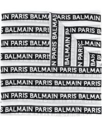 Balmain プリント スカーフ - ブラック