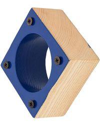 Corto Moltedo Square Medium Bangle - Blue