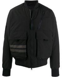 Canada Goose Striped bomber jacket - Noir