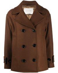 Mackintosh Двубортное Пальто Creetown - Коричневый