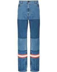 CALVIN KLEIN 205W39NYC - Straight Leg Patchwork Jeans - Lyst