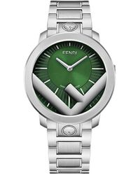 Fendi Наручные Часы Run Away - Зеленый