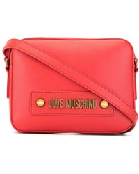 Love Moschino Logo Shoulder Bag - Pink
