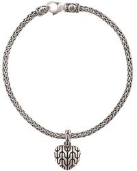 John Hardy 'Classic Chain' Armband mit Herzanhänger - Mettallic