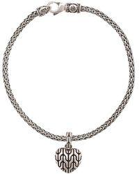 John Hardy Classic Schakel Armband Met Hart Amulet - Metallic