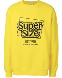 CALVIN KLEIN JEANS EST. 1978 Slogan Logo Sweatshirt - Yellow