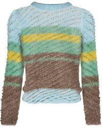 Y. Project ストライプ セーター - ブルー