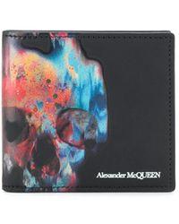 Alexander McQueen Portemonnee Met Doodskopprint - Zwart