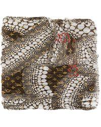 Louis Vuitton Fular Waves Infinity con monograma de Pre-Owned x Kusama Yayoi - Marrón