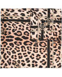 Philipp Plein - Платок С Леопардовым Принтом - Lyst