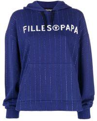 Filles A Papa - Logo Print Hoodie - Lyst