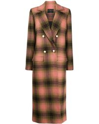 Mother Of Pearl - Check Double-breasted Coat - Lyst