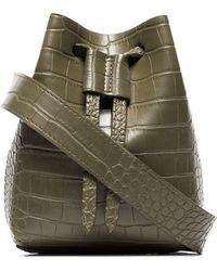 Nanushka Minee Crocodile-effect Belt Bag - Green