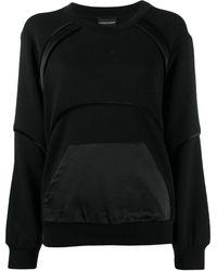 Emporio Armani パネル スウェットシャツ - ブラック
