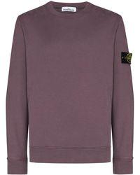 Stone Island Logo Patch Sweatshirt - Purple