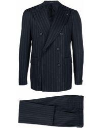 Tagliatore Pinstripe Two Piece Suit - Blue
