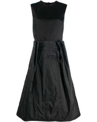 Maison Margiela Dual-fabric Dress - Black