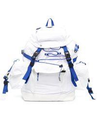 ADER error Elasticated Drawstring Buckled Backpack - White