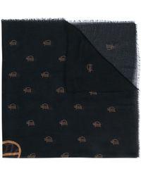 Preen By Thornton Bregazzi Brenna モノグラム スカーフ - ブラック