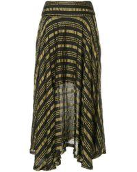 Kitx - Draped Gold Stripe Skirt - Lyst