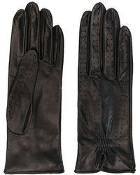 Manokhi Gants à design perforé - Noir