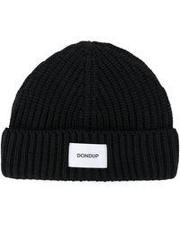 Dondup ロゴ ビーニー - ブラック