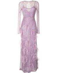 Rachel Gilbert Petunia スパンコール ドレス - パープル