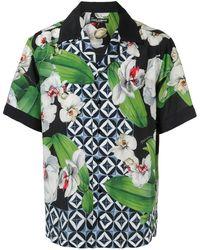 Dolce & Gabbana Hawaii Overhemd Met Print - Groen