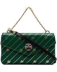 Gucci - Green Thiara Logo Print Double Leather Cross Body Bag - Lyst bb58e19697f14
