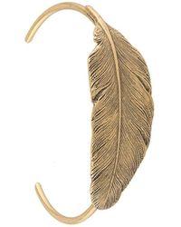 Ann Demeulemeester Bracelet à détail de feuilles - Métallisé