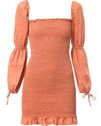 Reformation Платье Hilary Свободного Кроя - Оранжевый