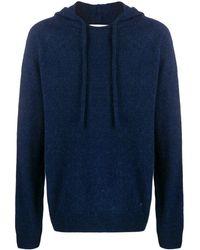Lanvin Fine Knit Hoodie - Blue