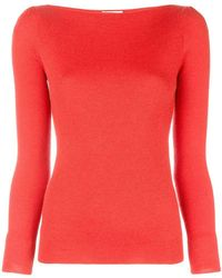 Co. - Boat Neck Knitted Jumper - Lyst
