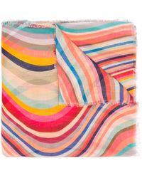 """Paul Smith Schal mit """"Swirl""""-Print - Pink"""