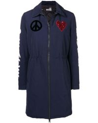 Love Moschino - Peace And Love Parka - Lyst