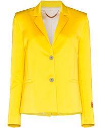 Heron Preston Mikado Single-breasted Blazer - Yellow