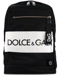 Dolce & Gabbana - Sac à dos bicolore à logo - Lyst