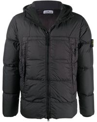 Stone Island - Quilted-down Coat - Lyst