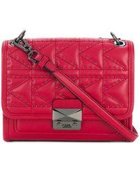 Karl Lagerfeld K/kuilted Studs Small Handbag - Red