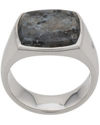 Tom Wood Anillo Cushion - Metálico