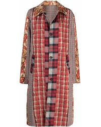 Pierre Louis Mascia Patchwork-design Coat - Multicolour