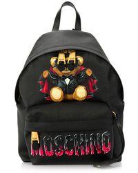Moschino Mochila Bat Teddy Bear - Negro