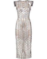 Fendi Mirror-patch Tube Dress - Metallic