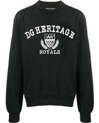 Dolce & Gabbana Толстовка Dg Heritage Royals - Черный