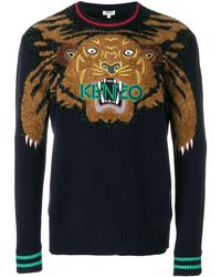 KENZO Tiger セーター - ブルー