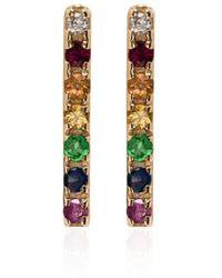 Mateo 14kt Gold Rainbow Sapphire Earrings - Metallic